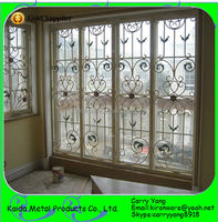 Home Wrought Iron Window Grill Designs Color