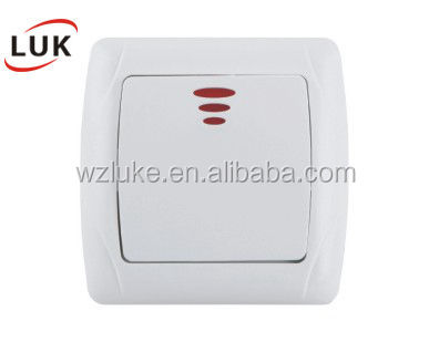 european type of electrical wall switches 1 Gang 2 gang doudbe electric socket wall mounted switch