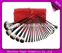 22pcs Red Make up Mineral Brushes handmade makeup brushes