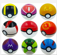 2016 china factory price 7cm popular toy pokeball shape Go Poke Ball various colors pokemon ball