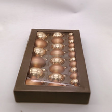 real glass shiny mat golden holiday time glass ornaments