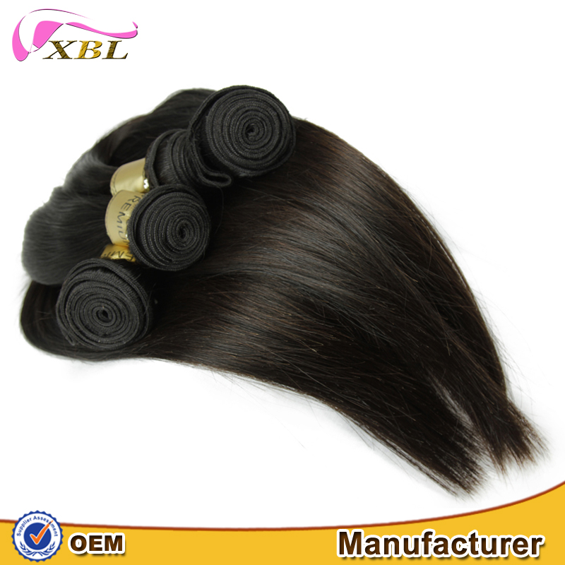 XBL hair premium quality Brazilian 100% natural straight human hair with tangle free
