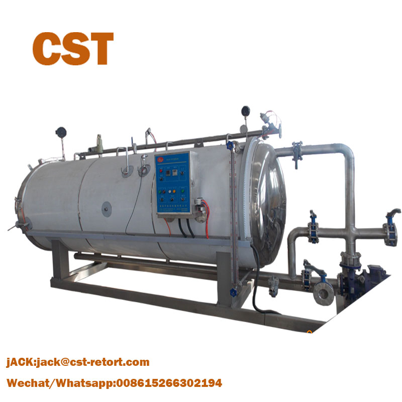 Horizontal steam Retort Sterilization Autoclave for canned food and beverage