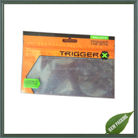 Three side seal plain fish lure packaging bag with hang hole
