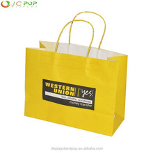 Promotional Recycled White & Brown Kraft Paper Bags with Logo Printed, Strong Brown Paper Bags, Grocery Paper Supermarket Bags