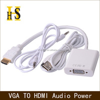Wholesale customized vga to hdmi cable with audio and power