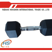 Hot Sale Hex Rubber Dumbbell For Sale