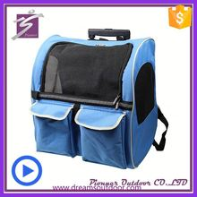 New arrival trolley pet carrier big dog pet carrier on wheels pet carrier with wheels
