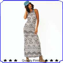 ODM&OEM manufacturies latest fashion design women funky tribal maxi party cocktail evening dress shkf77