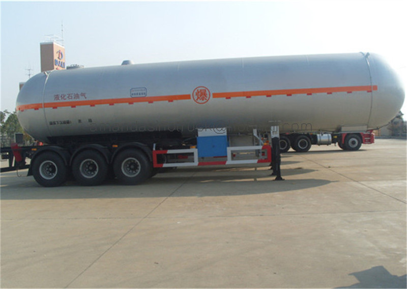 Manufacturer direct sell cooking gas pressure tank LPG storage tanker truck semitrailer with tractor