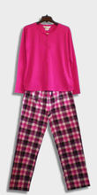 2016New Stylish Ladies Nightwear Sleepwear LoungeWear Pajamas cotton Jersey Top and Flannel Fleece Pant Sets
