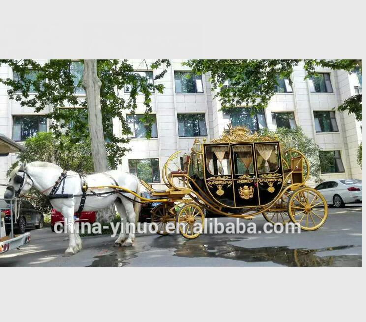 Iron and steel Royal horse carriage for sale/wedding horse carriage