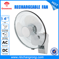 14 Inch Battery Operated Wall-moulted Emergency Fans with Remote