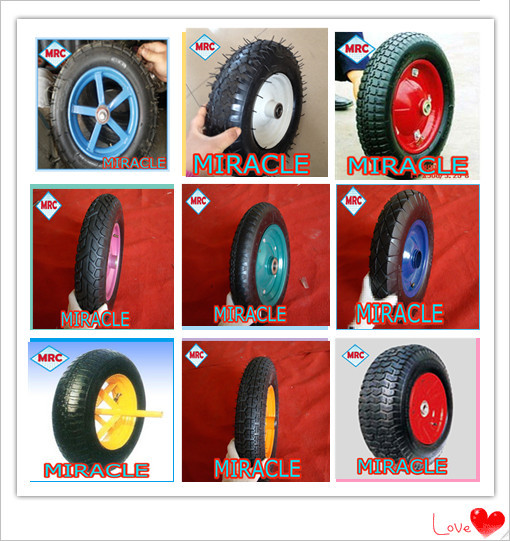 Top quality rubber wheelbarrow wheel air wheel 13 x 3.25 / 3.00-8