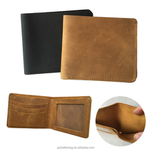 Vintage Simple Vegetable Tanned Leather Suede Leather Wallet