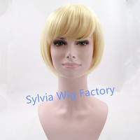 In stock!Blonde short straight bob wigs synthetic lace front wig Synthetic Hair no tangle free shed and no smell easy to restyle