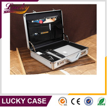17.3 inch Laptop Hard-sided Aluminum Attache Case with Combination Locks