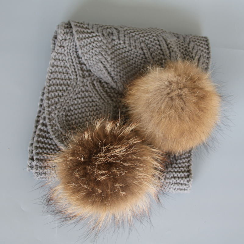2017 new style fur pompom scarf women men neck warmer for winter