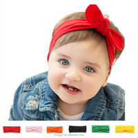 Newborn Baby Girl Headbands 2017 Rabbit Bow Satin Ribbon Photography Props Infant Flower Headband Hair