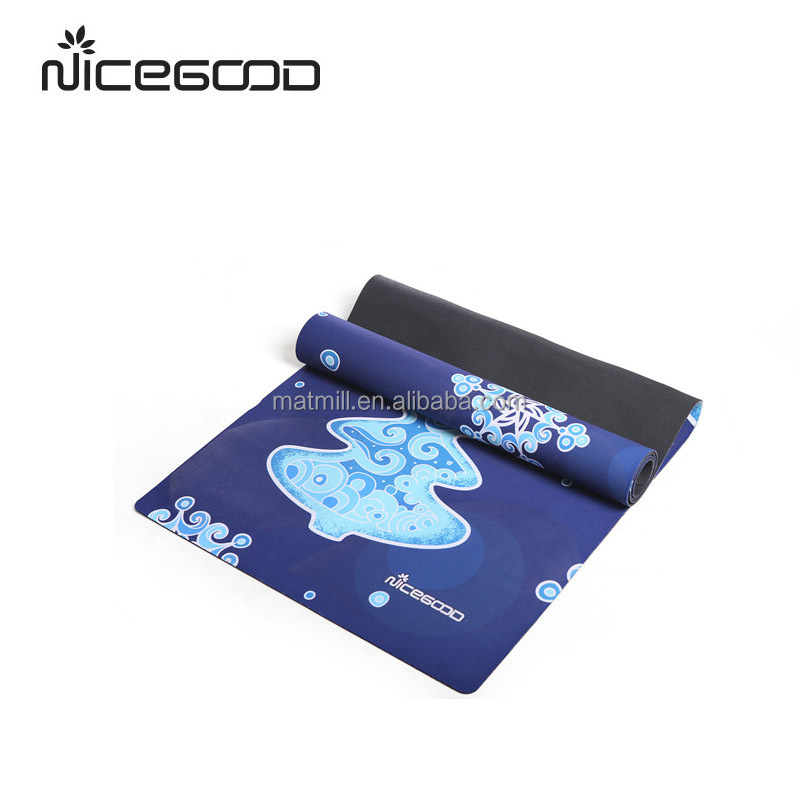 Full color printed high quality rubber yoga mat with cheapest price