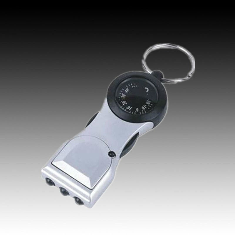 keychain 4 in 1 flashlight torch 3 LED Keychain Flashlight with Compass and thermometer compass thermometer led flashlight