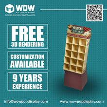 Advertising Cardboard POS Displays for Crackers, Point of Sale Display Units