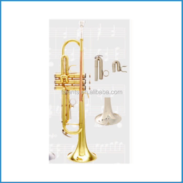 High grade Eb/D key trumpet with extra bell and tuning pipes