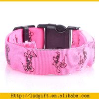 Soft nylon material fancy dog collars small dogs