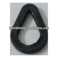Carp Fishing Accessories Matt Black Pear Type Rig Ring