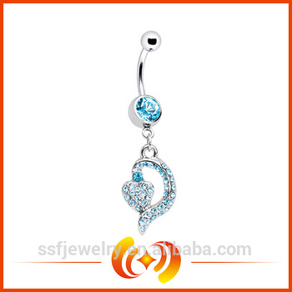 SSBD0011 wholesale price Indian Popular Stainless Steel Navel Belly Ring In Body Jewelry