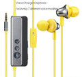 Voice changed earphone 3.5mm high quality sound magic wired headphone