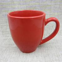 Color glazed ceramic stoneware 12oz red drinking cup&mug