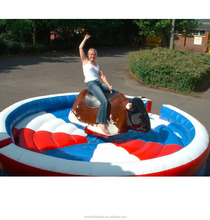 inflatable mechanical bull riding toys for sale , PVC inflatable rodeo bull machine