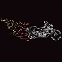Rhinestone t shirt transfer motorcycle