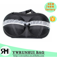 Newest Christmas Sale Portable Travel bra underwear case bra organizer bag with lace design for women