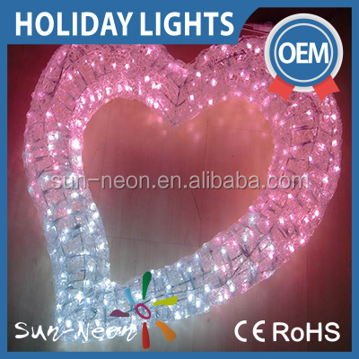 2016 Hot Colorful Led Outdoor Inflatable Valentine Decoration