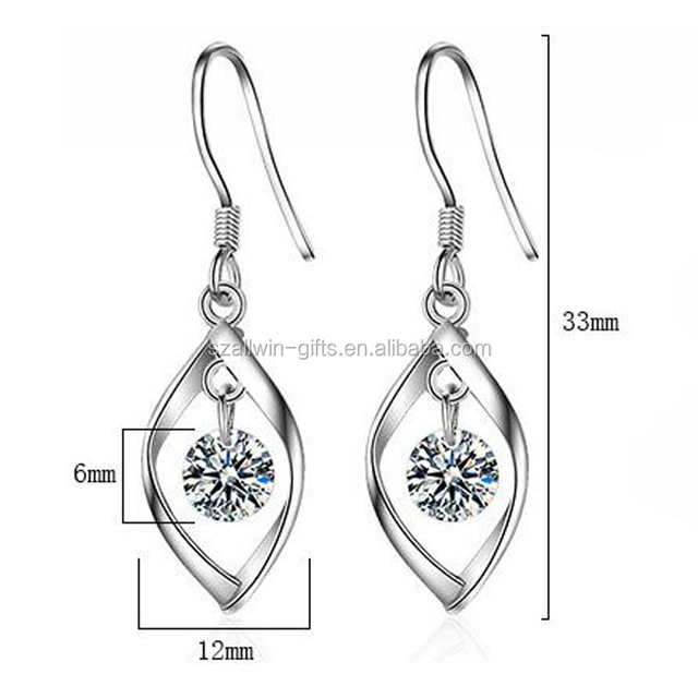 Wholesale rhinestone long drop earrings jewelry women for weddings