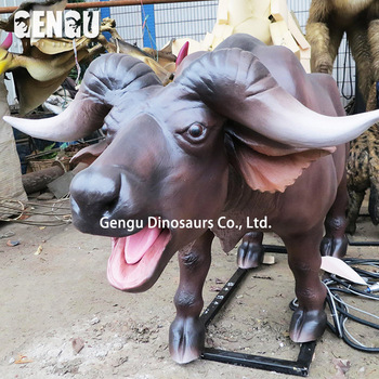 Theme park real size animatronic cow for sale