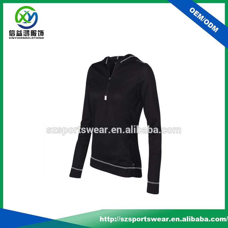 Hot Selling Black Color Dri Fit Stretch Hooded United USA T Shirts