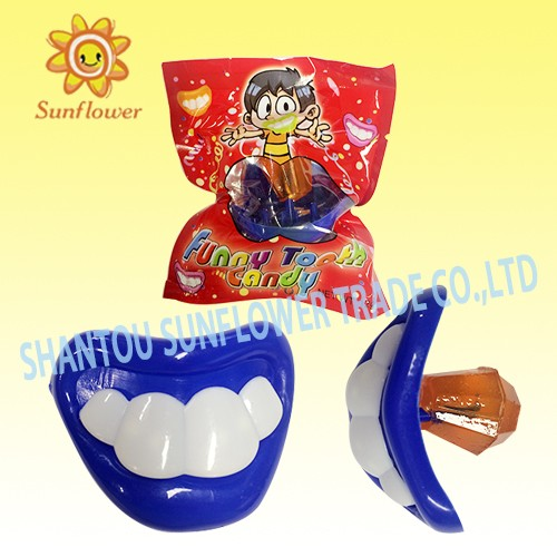 Kids Devil Tooth Toy Hard Lollipop Candy