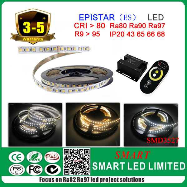 Adjustable dual colors SMD3527 LED strip light, 2 chips in <strong>1</strong>