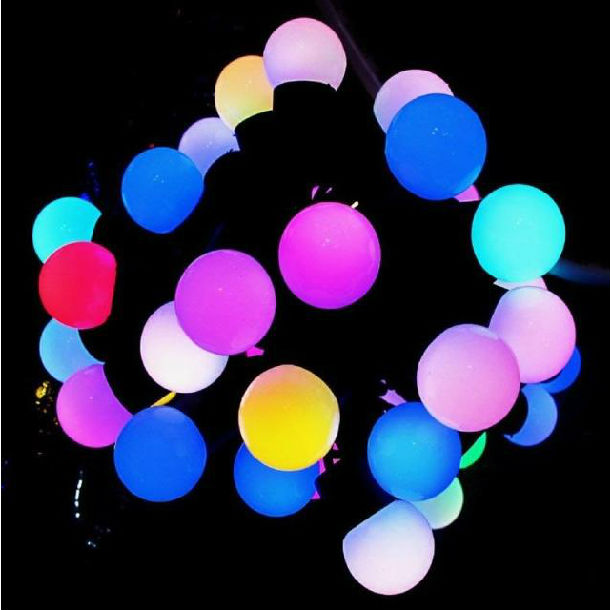 Hot Sale ! Beautiful Ball 17mm Led Round Ball Christmas Lights Colorful Led String Light - Buy ...