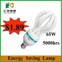 Looking for agents in Jordan new products lotus fluorescent light fixture 65W 220v energy saving light