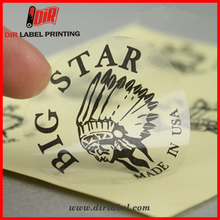wholesale printing waterproof die cut logo transparent adhesive custom vinyl stickers
