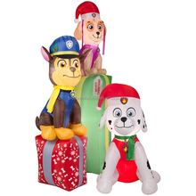 Wholesale Outdoor Gemmy christmas products , Inflatable Paw Patrol Presents for sale