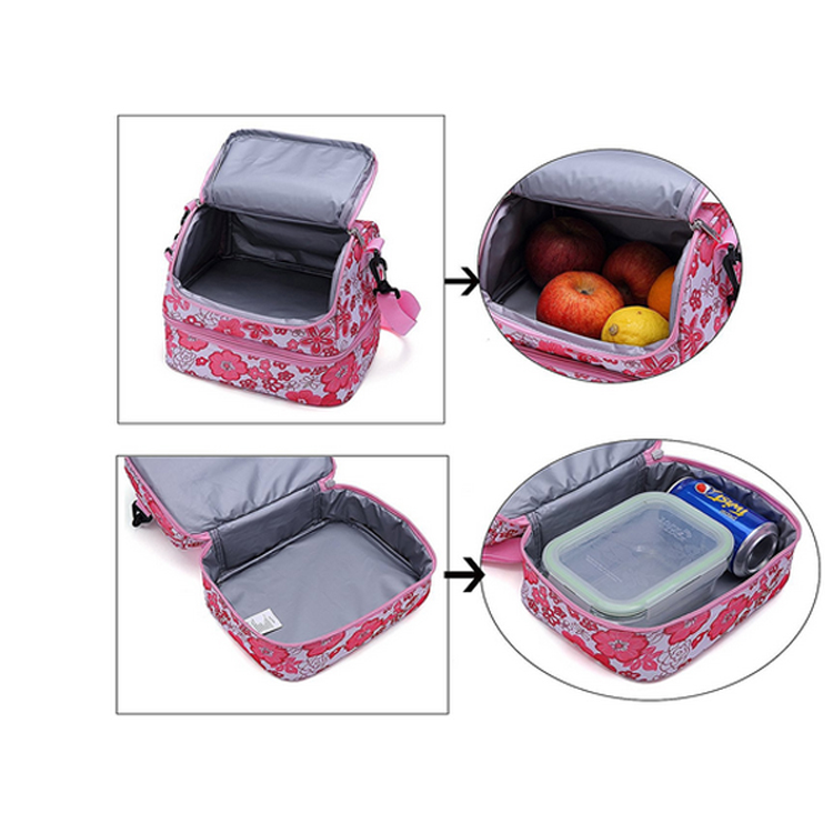 Double layer insulated reusable kids lunch bag wholesale