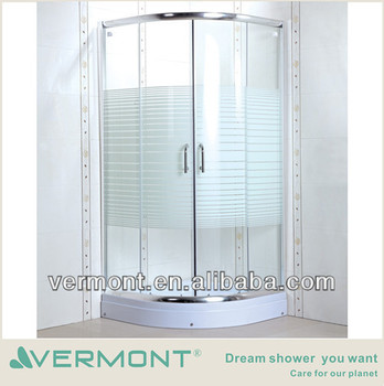 6mm glass shower room wheels sliding glass
