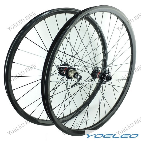 China Carbon 29er Mtb Wheels With 27MM Wide 23MM Deep Hookless D771/D772 or D881/D882 4 In 1 Hubs