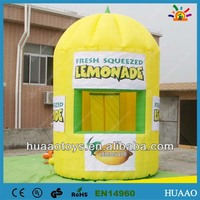 Hot sale lemonade show display inflatable booth