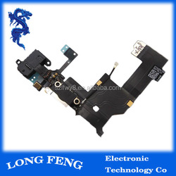 newest spare parts charging flex cable for iphone 5 , for iphone 5 dock connector flex cable